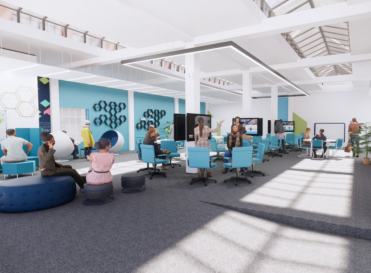 An artist's impression of how the refurbishment will look. Photo: University of Wolverhampton