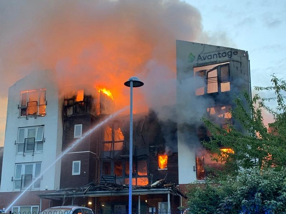 More than 100 evacuated amid fire at retirement apartment complex