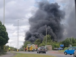 Huge clouds of smoke as tyres fly-tipped and set ablaze in Cannock