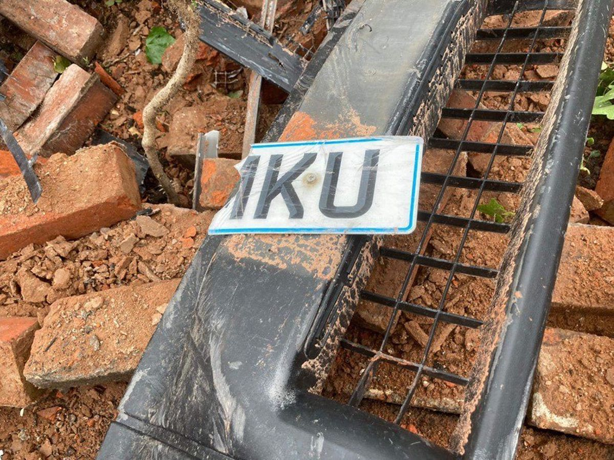 The bumper and part of the number plate from the vehicle was left after the incident