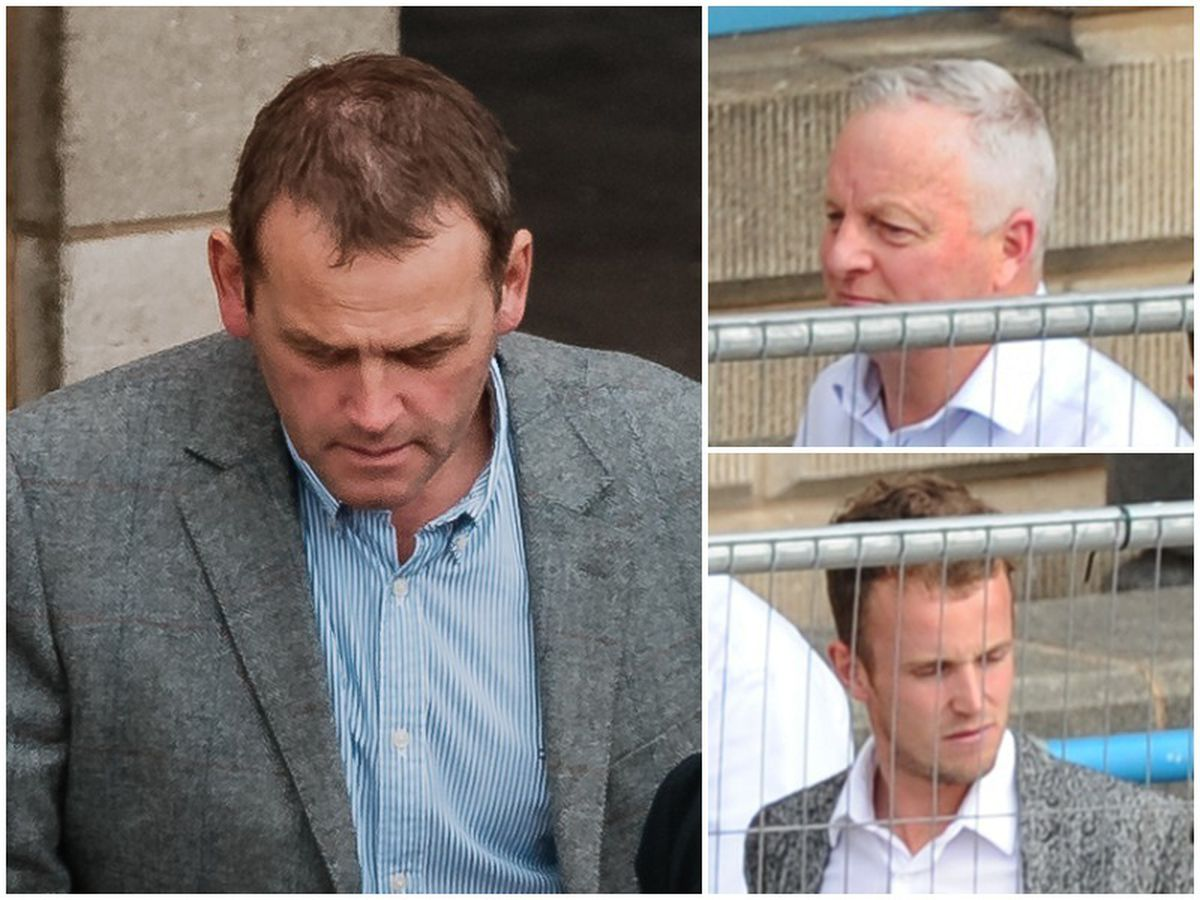 Clockwise from left, Michael Dewsbury, Stephen Roberts and Nathan Cooper were found guilty
