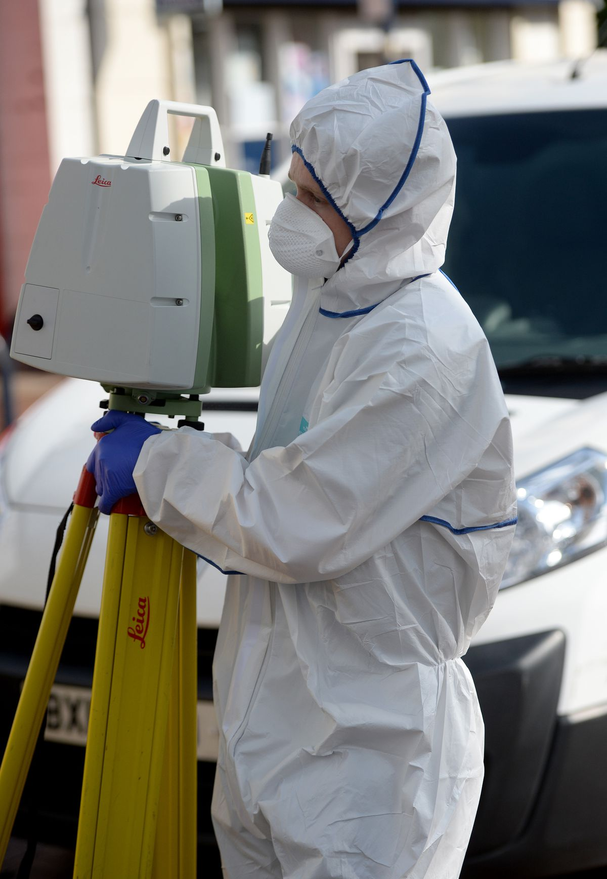 A forensics officer on the scene