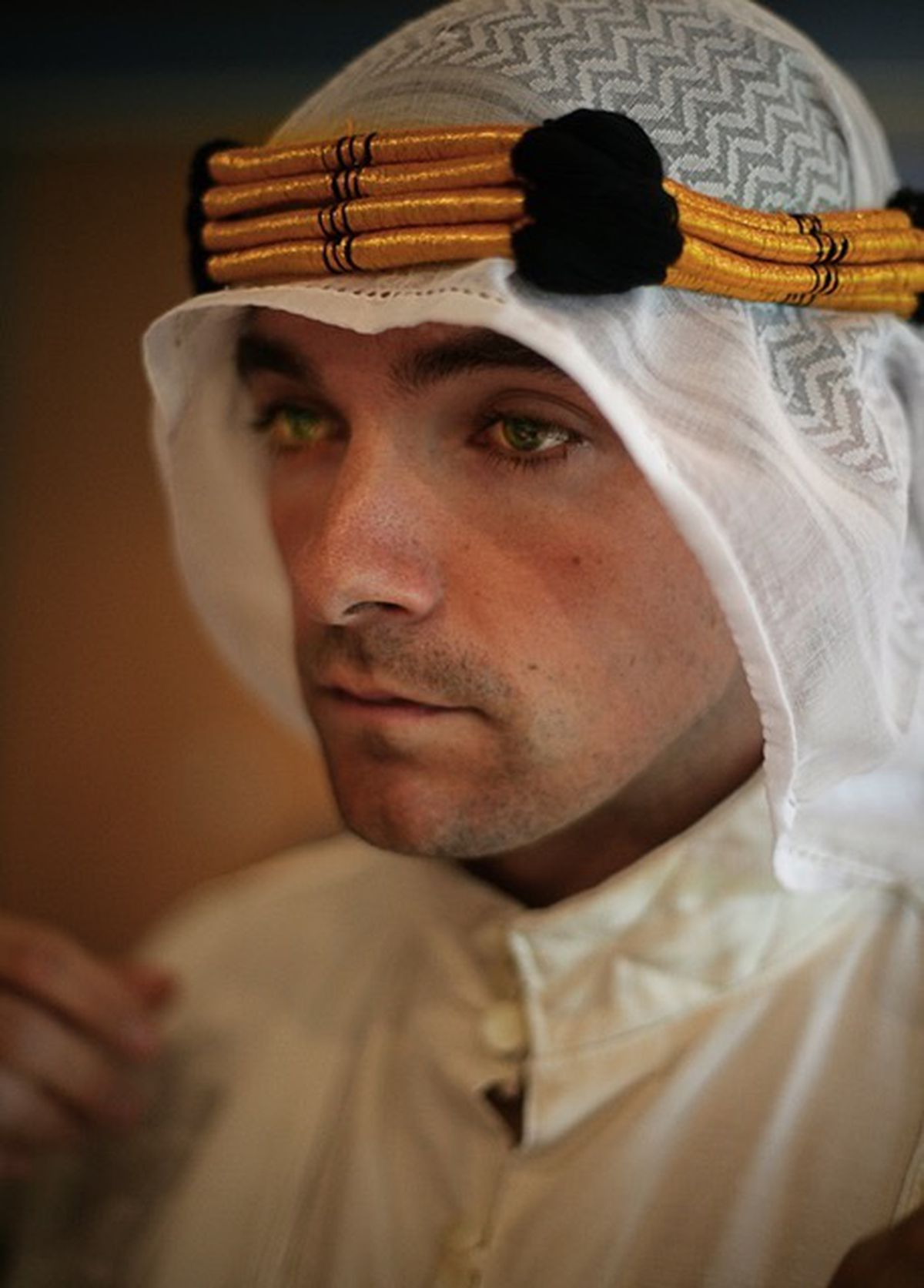 Tom Barber-Duffy plays the title role of T E Lawrence