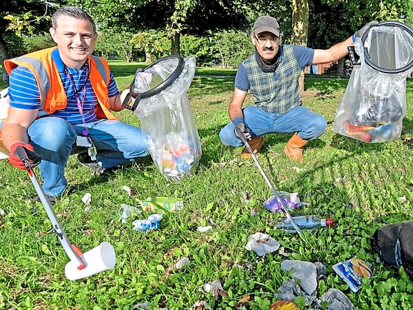 Blitz on litter across Walsall as waste bagged up