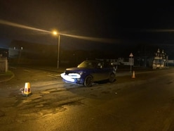 Range Rover abandoned on wrong side of pothole-ridden Shifnal road as protest