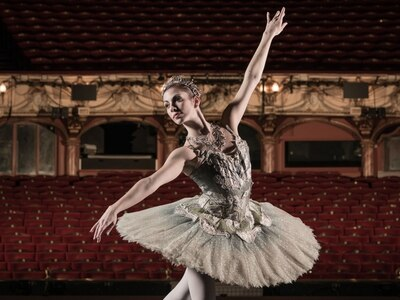 Spanish dancer Monica Tapiador in English Youth Ballet's new production of Cinderella in Hollywood in Shrewsbury