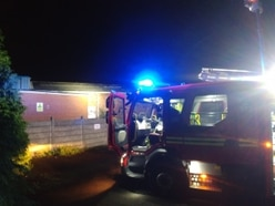 Firefighters tackle blaze at disused gym building in Dudley