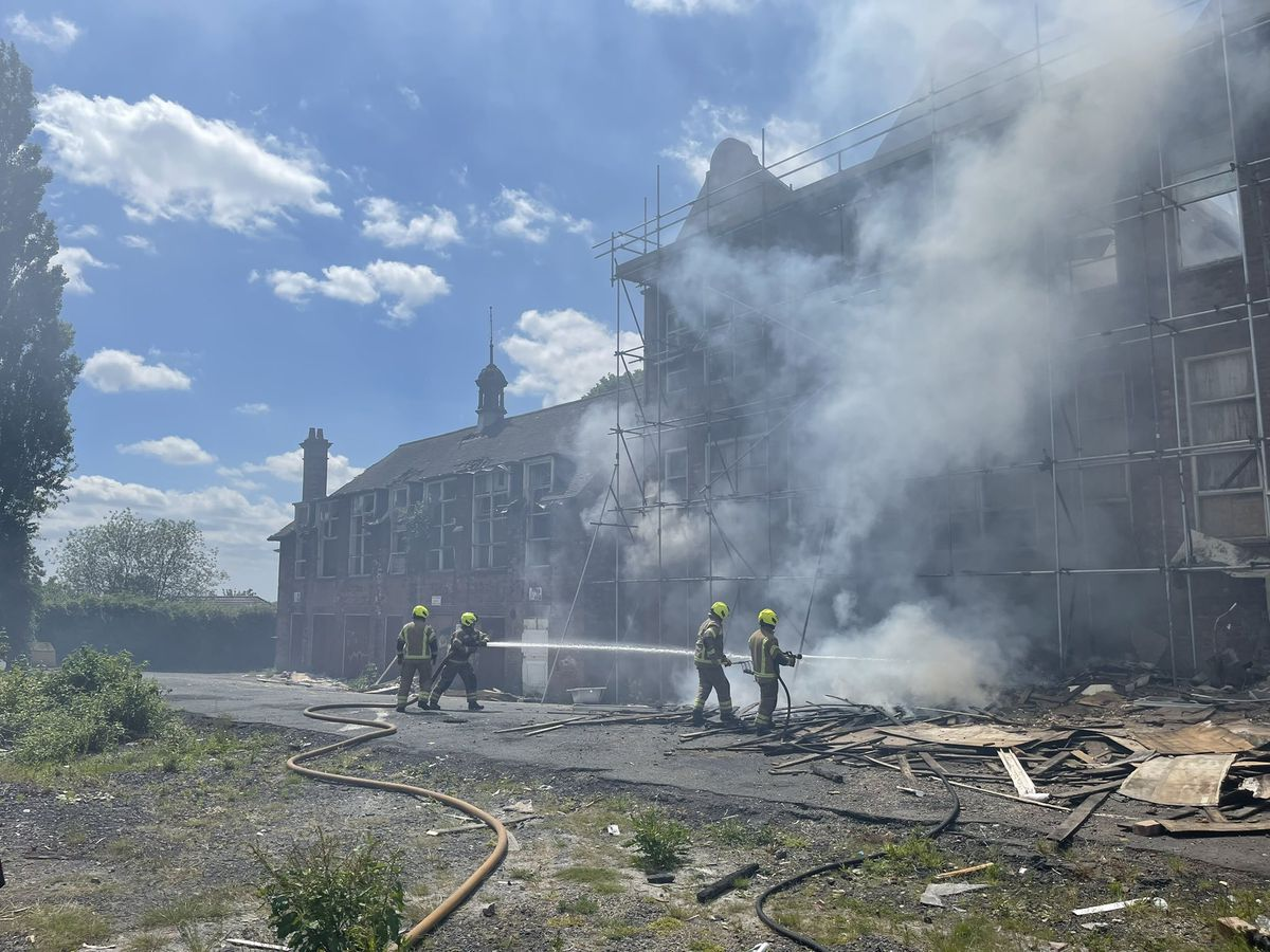Firefighters had extinguished the blaze by 3pm. Photo: West Midlands Fire Service