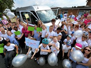 Celebrations at Dudley special school as new minibus unveiled