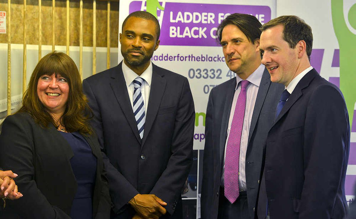 The Chancellor with Express & Star Deputy Editor Diane Davies