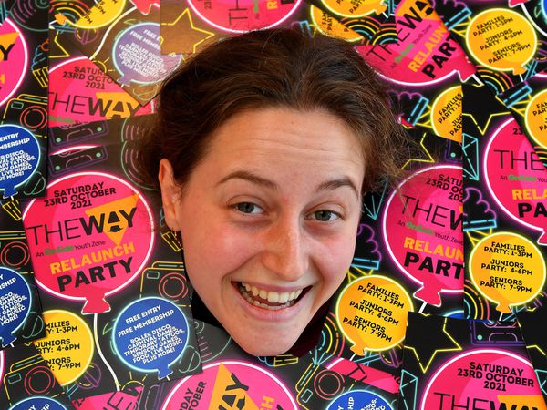 Fundraising officer Hannah Clay gets flyers at the ready to promote the forthcoming re-launch party at The Way, Wolverhampton.
