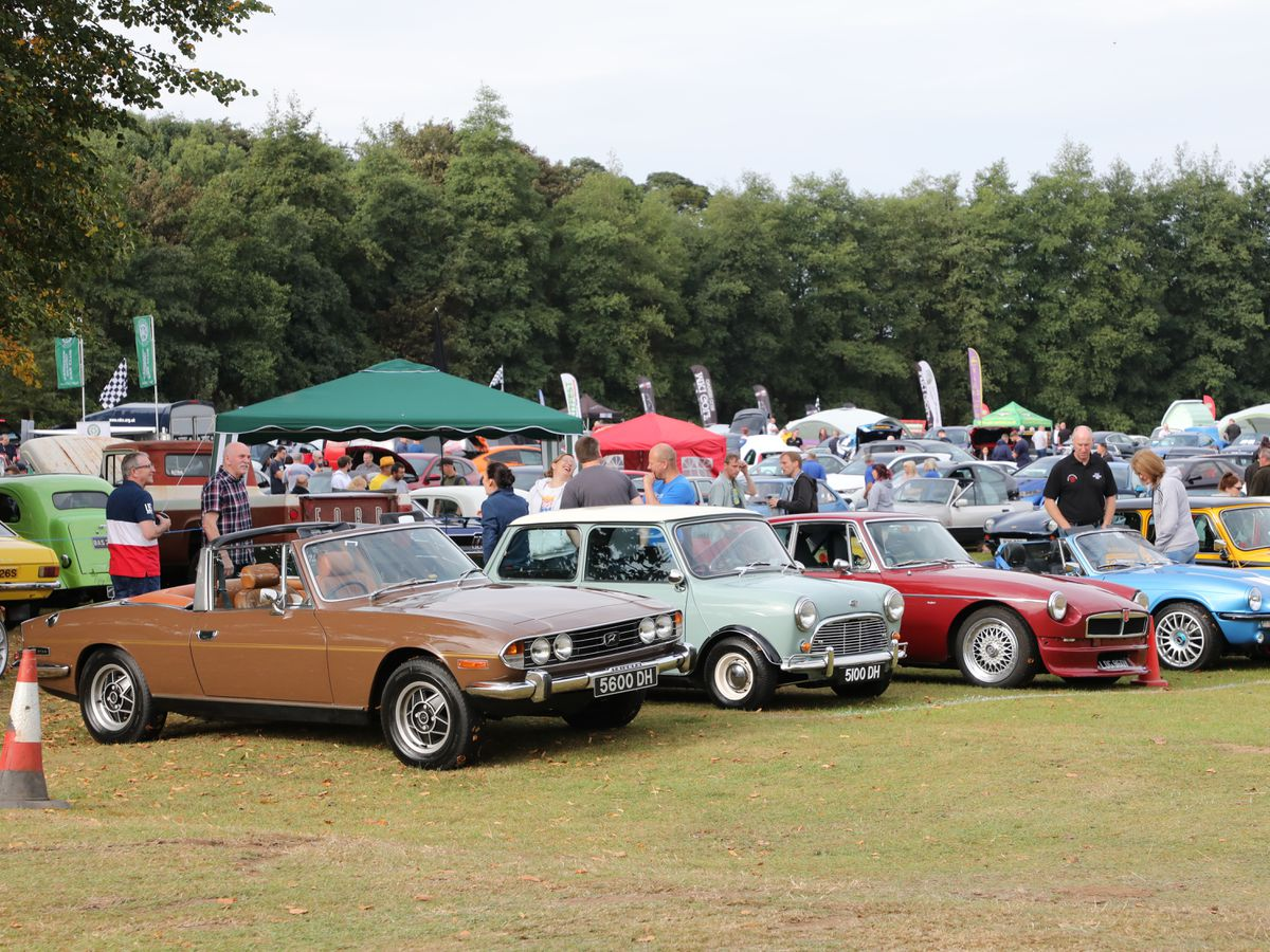 Some of the classic cars on display at last weekend's Cars in the Park.(Picture by Robert Yardley)