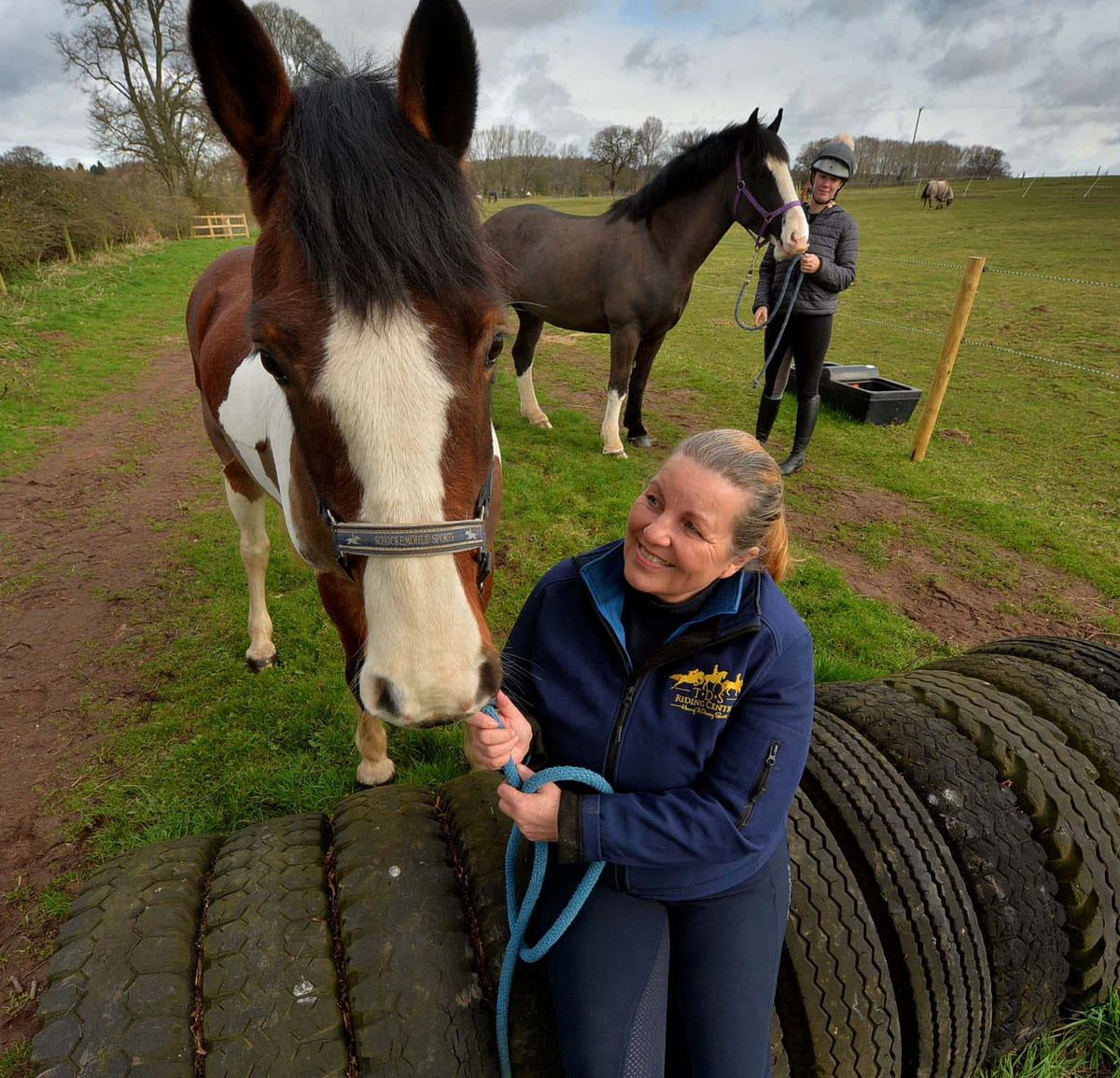 Denise O'Reilly with one of the horses
