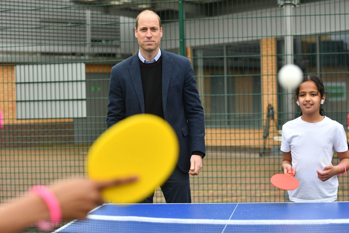 William watching the table tennis