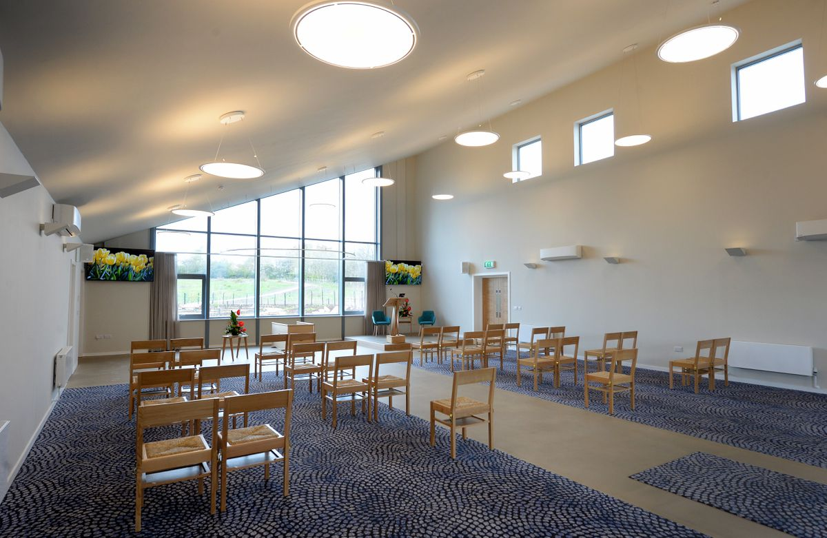 The ceremony hall at the newly-completed Cannock Chase Crematorium in Heath Hayes