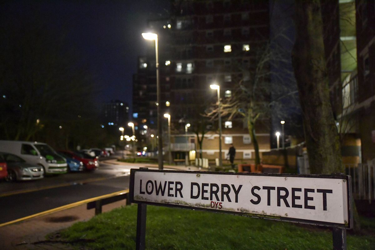 The incident happened near flats on Lower Derry Street. Photo: SnapperSK