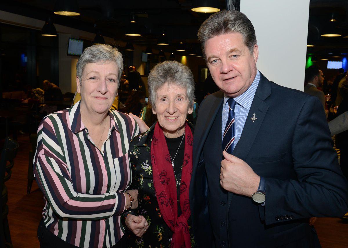 Sue Handford, Jean Hughes and Paul Handford.