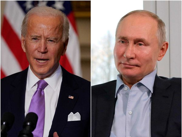 Joe Biden and Vladimir Putin