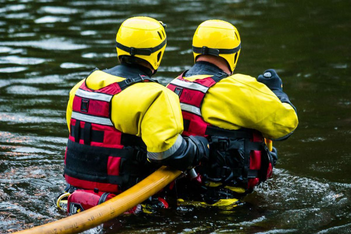 Water rescue team stock image