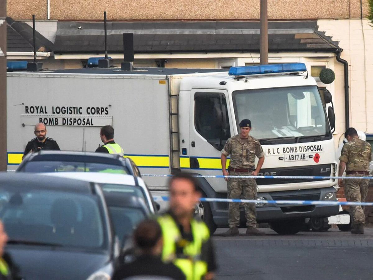 The Army's bomb disposal team and other emergency services on Coronation Road, Tipton. Photo: SnapperSK