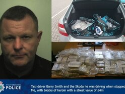 Taxi driver stopped on M6 at Stafford with £4m worth of heroin in boot