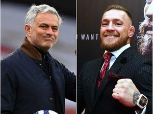 Jose Mourinho (left) and Conor McGregor