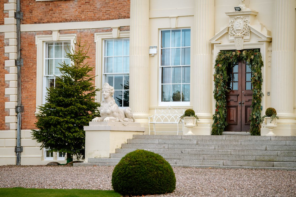 Preparations for Christmas at Hawkstone Hall started in January