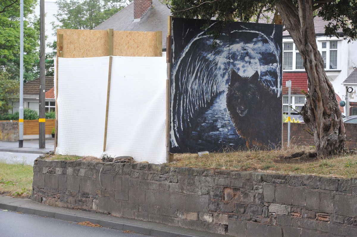 The hoardings on the Stafford Road