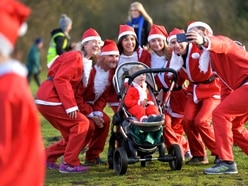 Hundreds turn out for Acorns Santa Run in Walsall