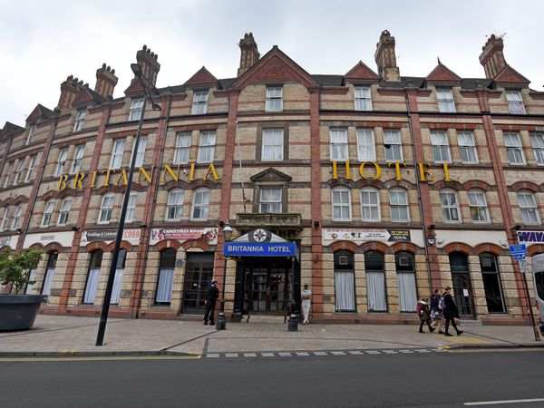 Asylum seekers are living in the Britannia Hotel, next to Wolverhampton's Grand Theatre