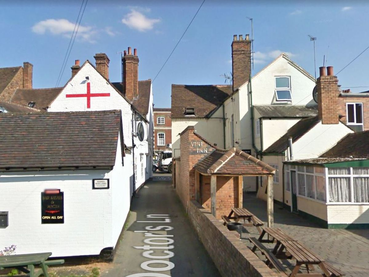 Doctors Lane viewed from the back of The Fosters Arms in Bridgnorth. Photo: Google