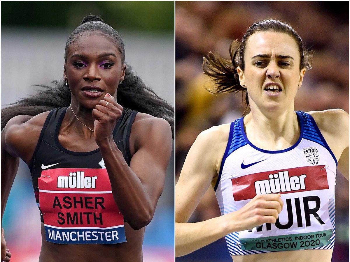 Dina Asher-Smith and Laura Muir