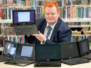 David Long, head of IT at Oldbury Academy, who has been making sure the school's disadvantaged kids have laptops when needed