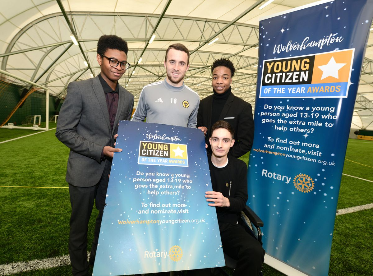 Diogo Jota is backing the Young Citizen of the Year award, with last year's finalists Samuel Iyawe, Melvin Riley and Jude Aston