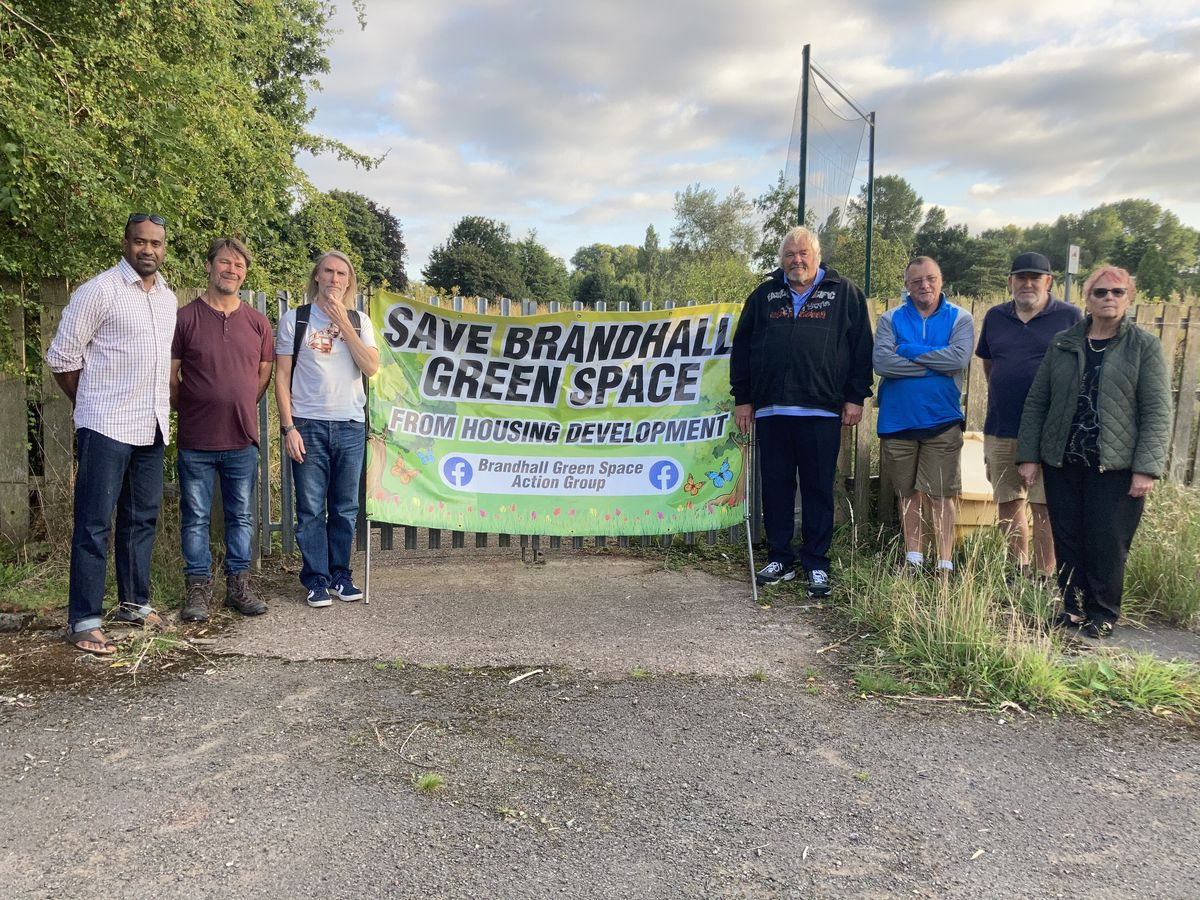 Members of Brandhall Green Space Action Group