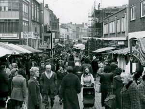 A bustling Walsall Market