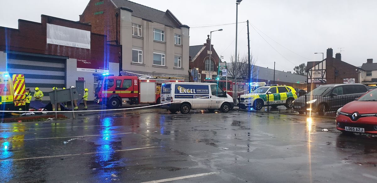 Emergency services at the scene. Photo: Graham Payne