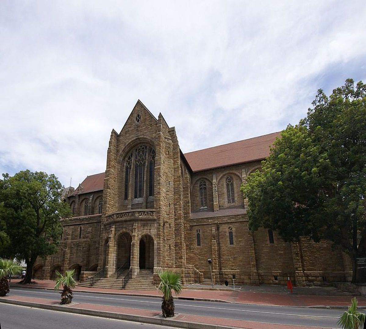 Tiles made in the Black Country adorn the roof of St George's Cathedral in Cape Town