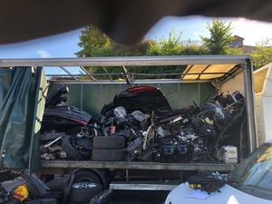 The cut up cars found in the HGV. Photo: Central Motorway Policing Group