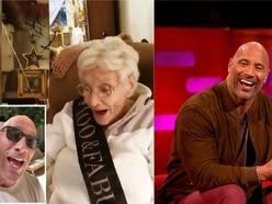 Dwayne Johnson sends birthday message to 100-year-old superfan