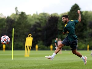 Patrick Cutrone in training at Compton (Wolves/Getty Images)