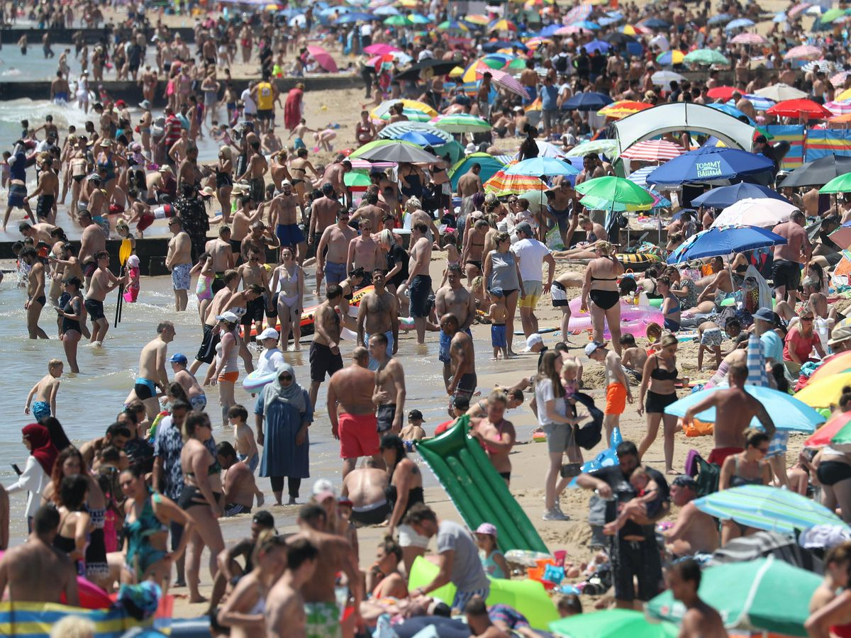 Crowds flocked to Bournemouth beach, causing a major incident to be declared (Andrew Matthews/PA)