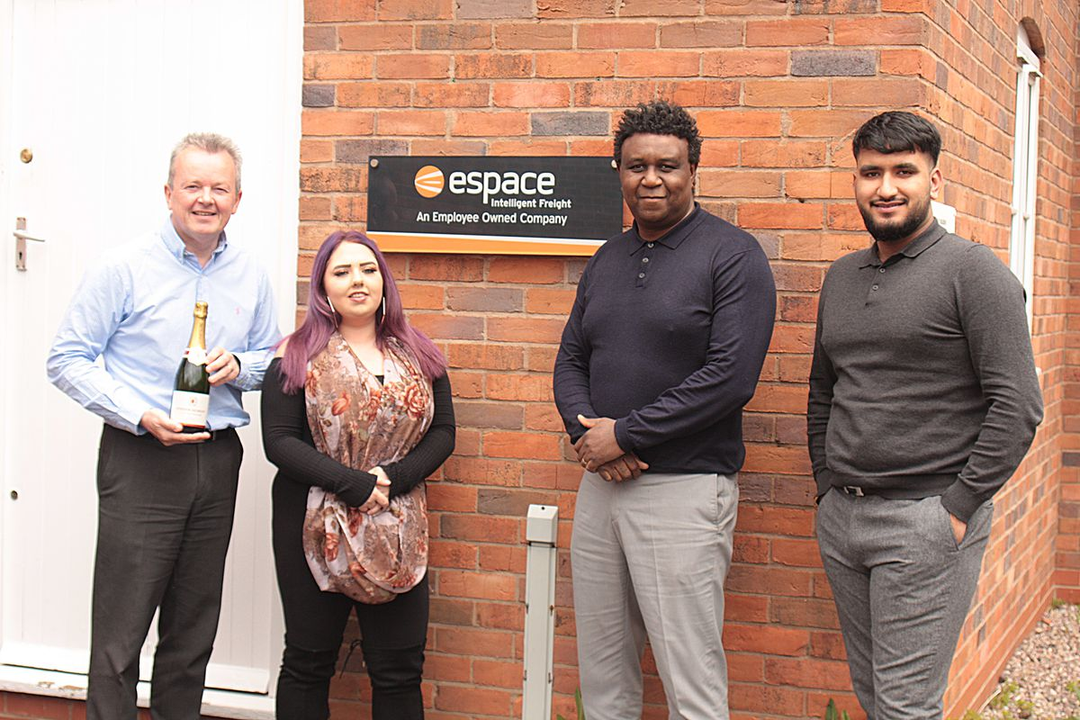Tony Shally with Espace Europe's new starters