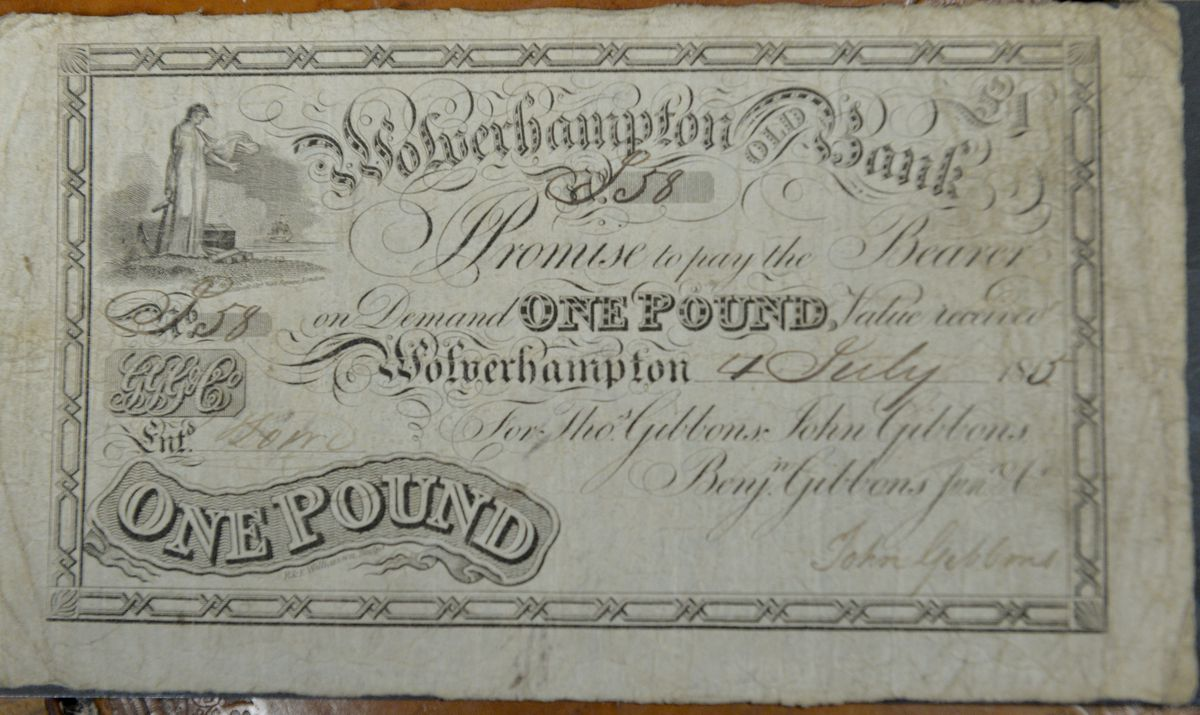A £1 bank note from 1815