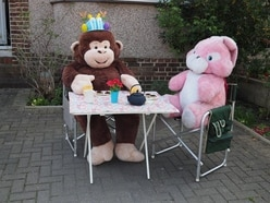 Giant monkey amuses residents in Kent town
