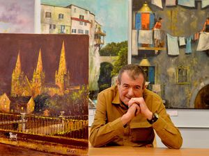 Cavan Corrigan is holding his first UK exhibition in 25 years at Heath Hayes library