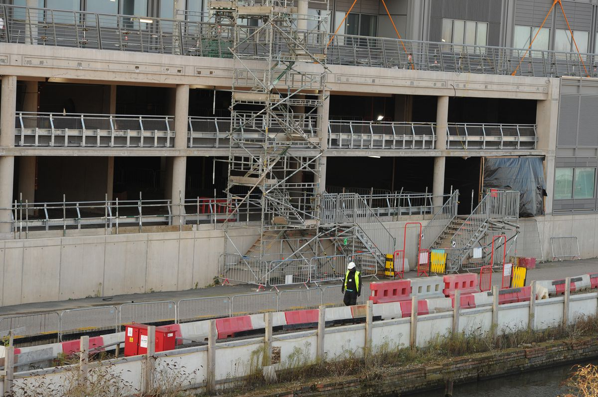 Work ground to a halt at the Midland Metropolitan Hospital site