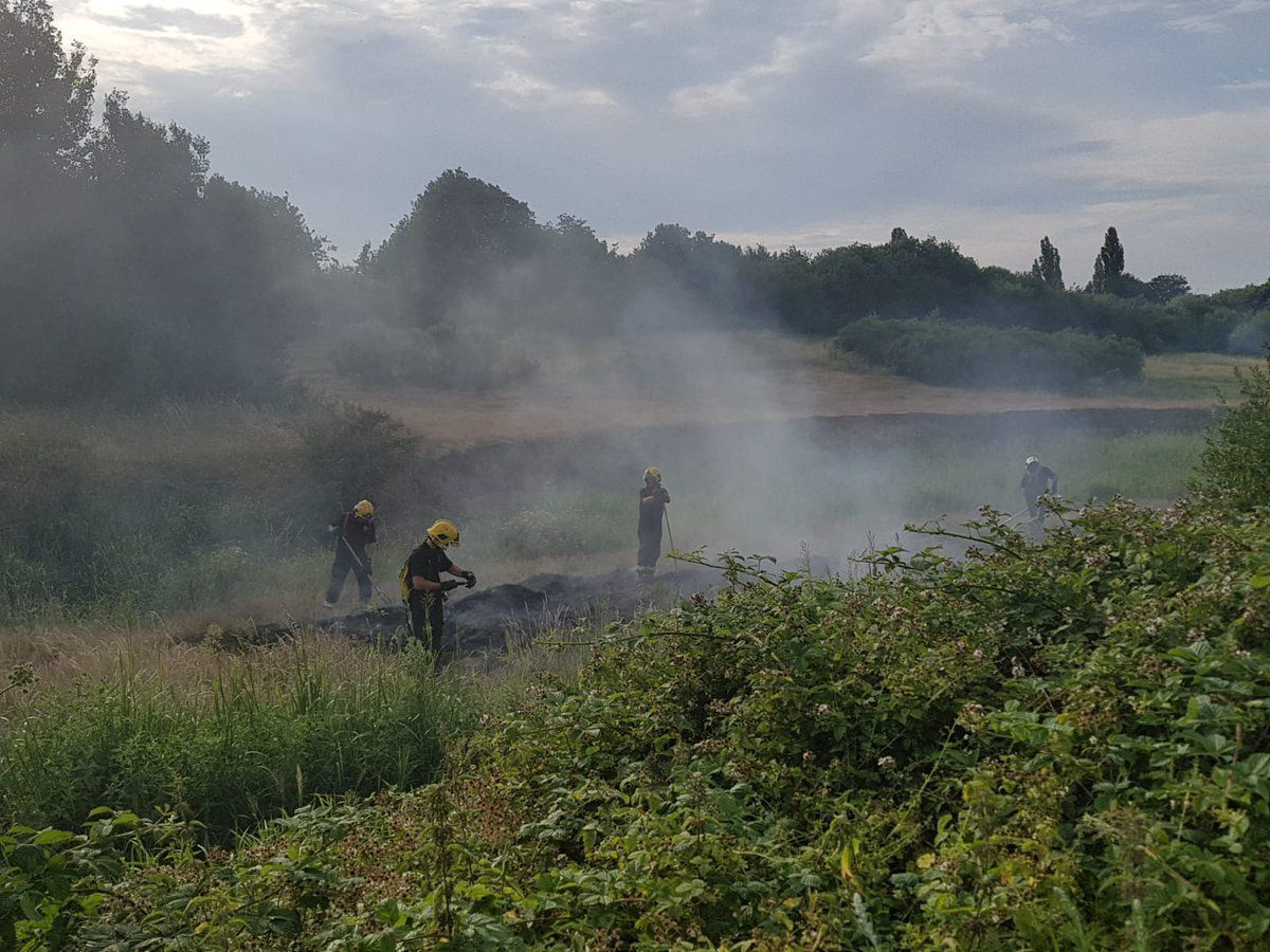 The fire tackled in Rushall on Sunday evening. Picture: Brownhills Police
