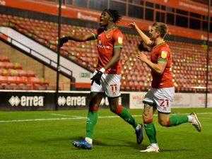 SPORT COPYRIGHT EXPRESS AND STAR STEVE LEATH 13/10/2020..Walsall FC V Leyton Orient FC.  W: Elijah Adebayo scores..