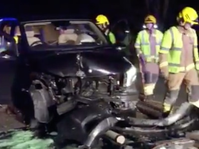 Presenter Jake Humphrey escapes with minor injuries after horror car crash